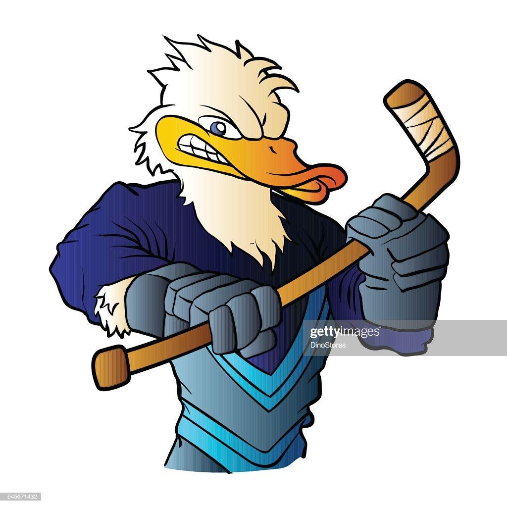 duck hockey player.