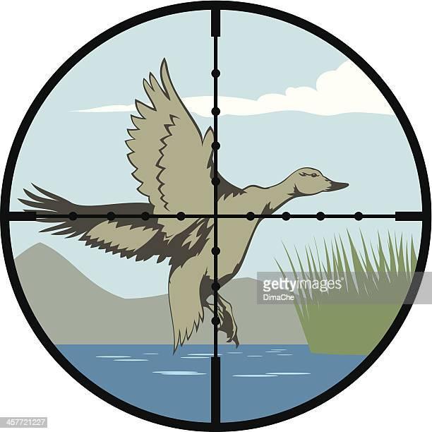 duck hunt - duck stock illustrations, clip art, cartoons, & icons