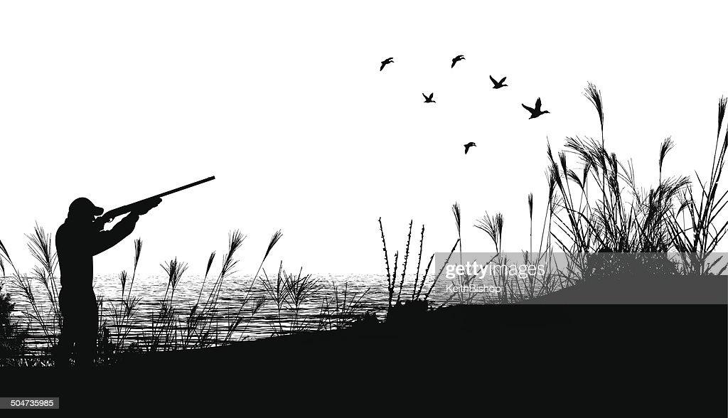 Duck Hunting Background : stock illustration