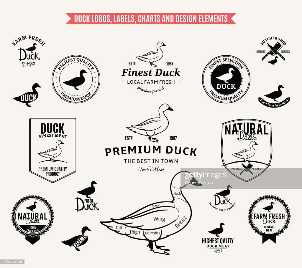 Duck Labels, Charts and Design Elements