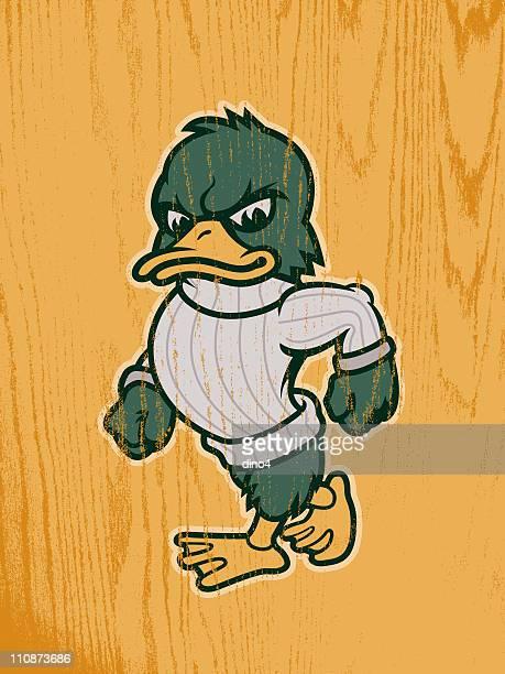 bildbanksillustrationer, clip art samt tecknat material och ikoner med duck mascot - duck