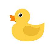 Duckling, simple vector icon.