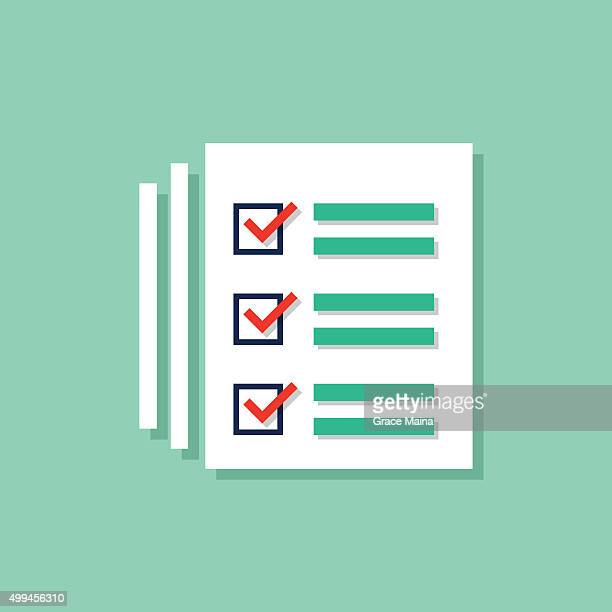 Ducument list icon -VECTOR