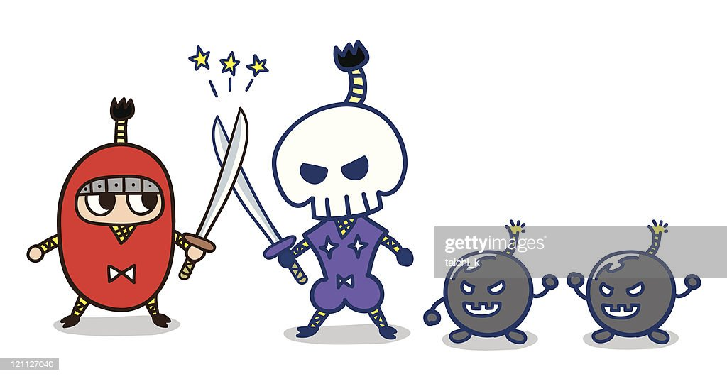 Duel ninja : stock illustration