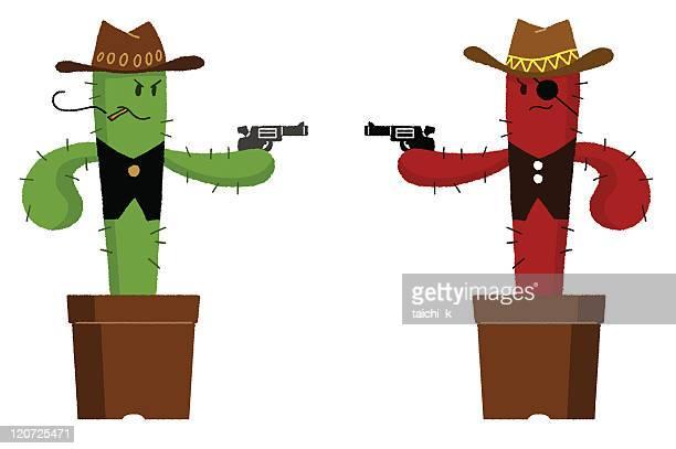 Duel of cactus