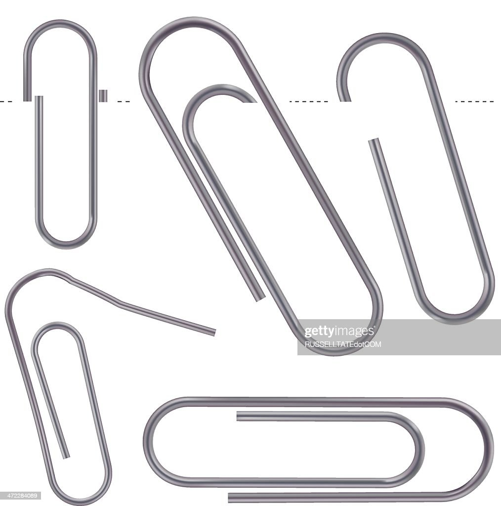 Dull metal Paper Clips