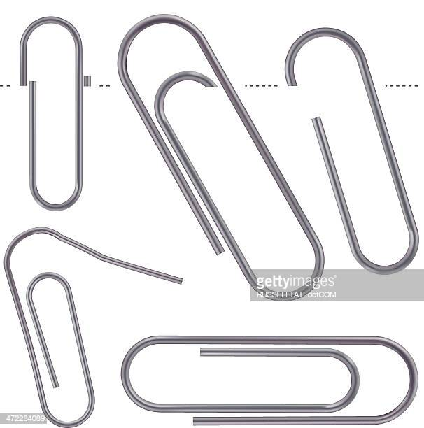 dull metal paper clips - paper clip stock illustrations, clip art, cartoons, & icons