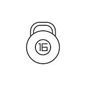 dumbbell Bob thin line icon. Linear vector symbol