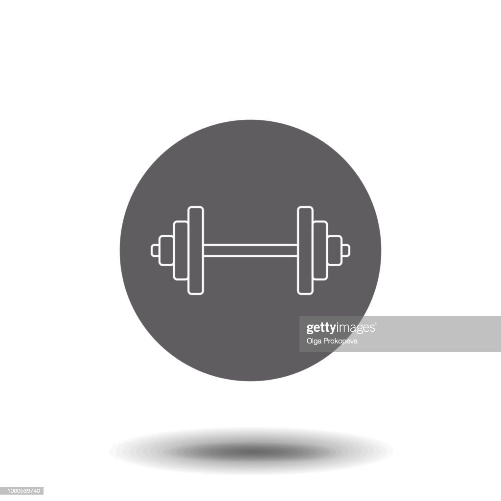 Dumbbell linear icon. Dumbbell concept symbol design. Thin graphic elements vector illustration, outline pattern on a white background, eps 10.