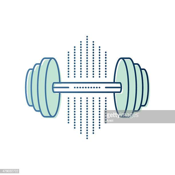 dumbbell symbol - weight training stock illustrations