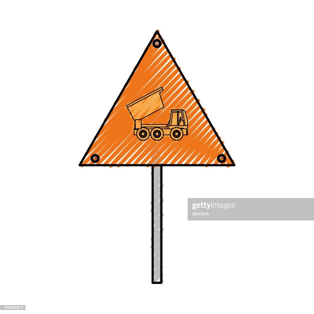 dump truck signal  vector illustratio