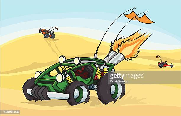 dune buggy - go carting stock illustrations, clip art, cartoons, & icons