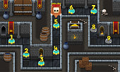 Dungeon Game Level Map