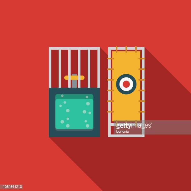 dunk tank flat design april fools day icon - dipping stock illustrations, clip art, cartoons, & icons