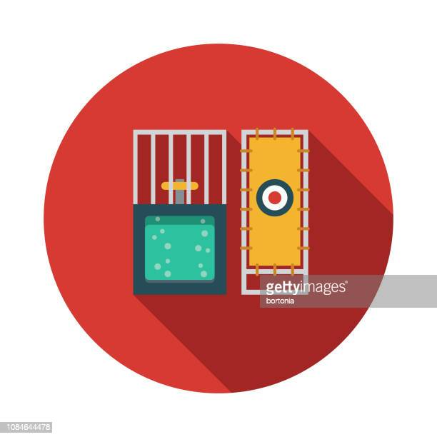 dunk tank flat design april fools day icon - water tower storage tank stock illustrations