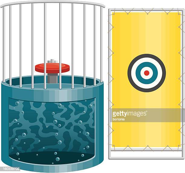 dunk tank - water tower storage tank stock illustrations