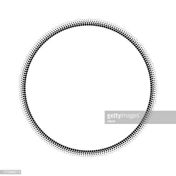 duo tone circular dots radial gradient from black to white by scaling - radial symmetry stock illustrations