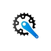 Duo Tone Icon - Bicycle crank set