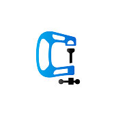 Duo Tone Icon - Clamp tool