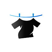 Duo Tone Icon - Clothes hang
