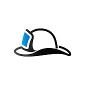 Duo Tone Icon - Fireman hat