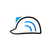 Duo Tone Icon - Hard hat