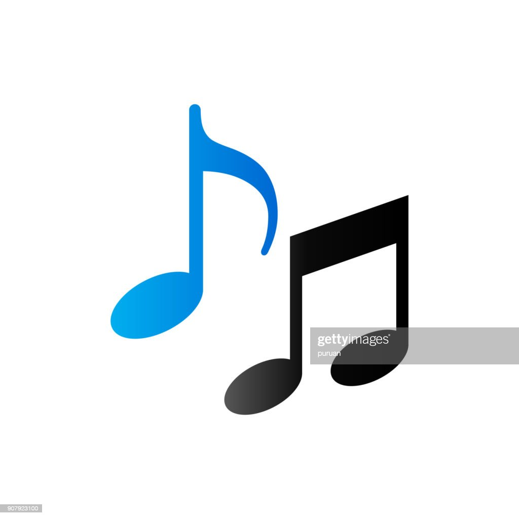 Duo Tone Icon - Music notes