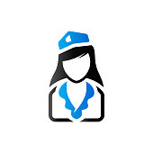 Duo Tone Icon - Stewardess avatar