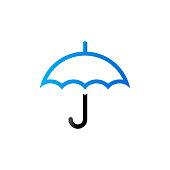 Duo Tone Icon - Umbrella