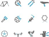 Duo Tone Icons - Bicycle Parts