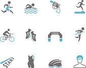 Duo Tone Icons - Triathlon