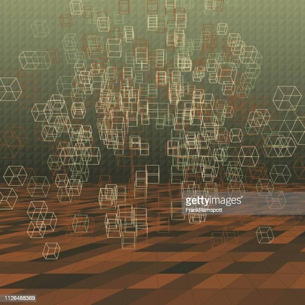 Staub-abstrakte 3D-Vektor-Cube