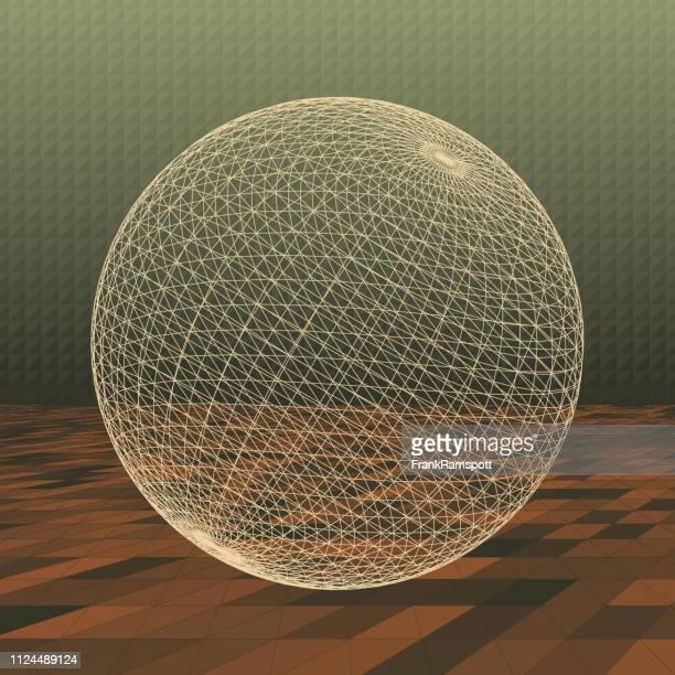 Staub-abstrakte 3D-Vektor-Kugel