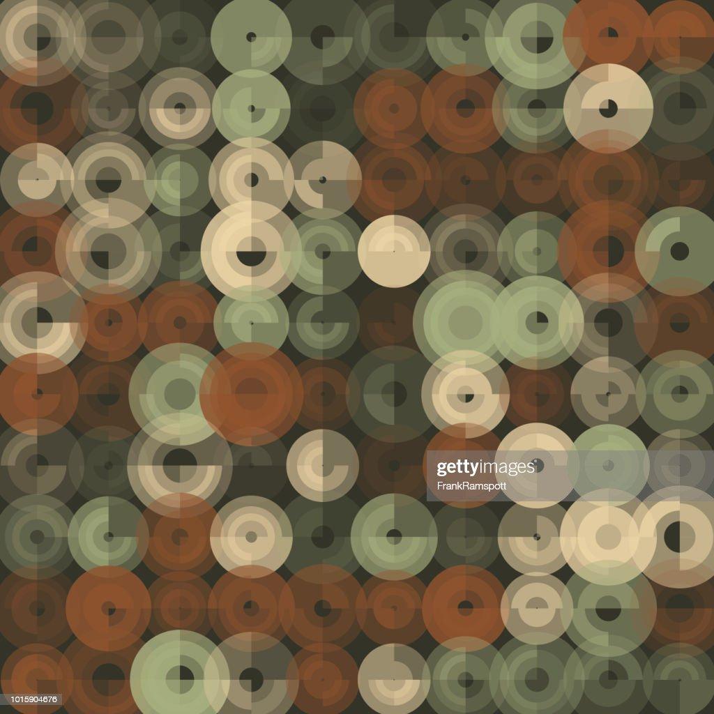 Staub-abstrakten Kunst Kreismuster : Vektorgrafik