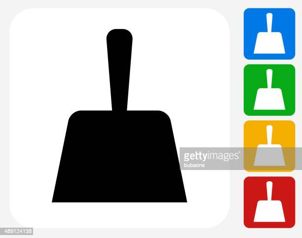 dust pan icon flat graphic design - dustpan stock illustrations, clip art, cartoons, & icons