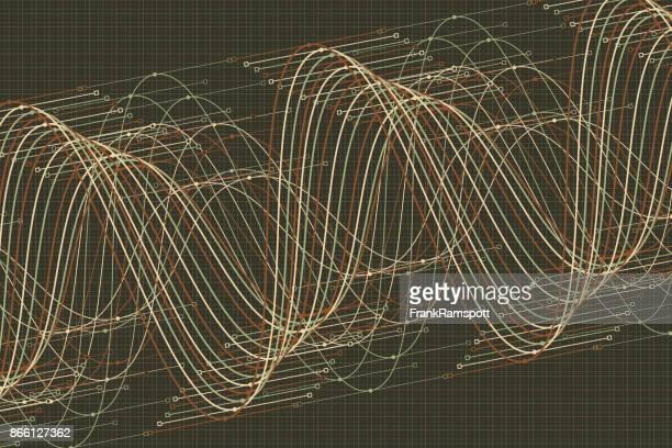 Staub Vektor Sinuswelle Graph Muster Horizontal