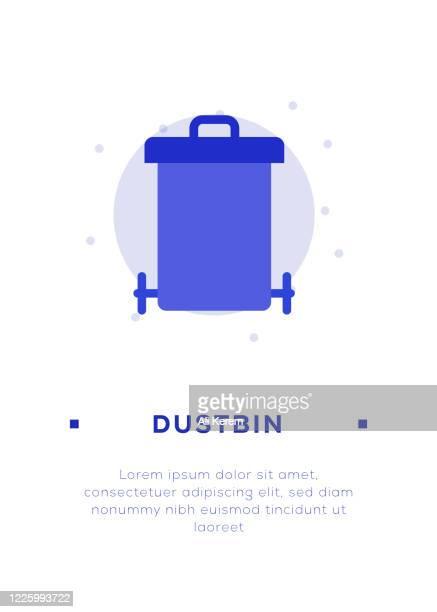 ilustrações de stock, clip art, desenhos animados e ícones de dustbin icon - gari