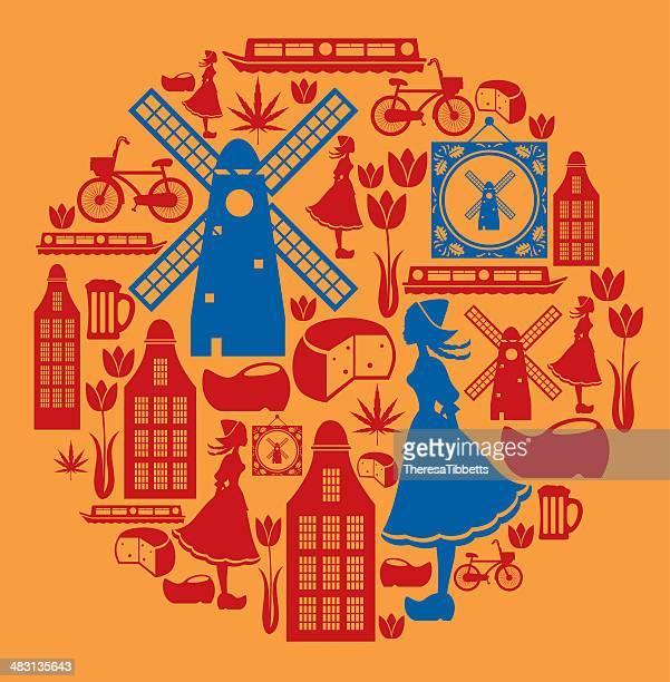 Holandês montagem de ícone