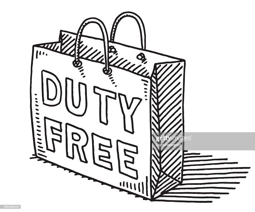 Duty Free Shopping Bag Drawing
