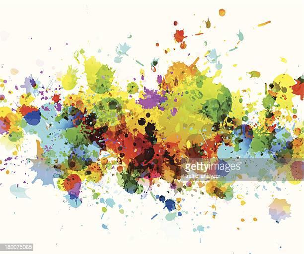 Dye splashes