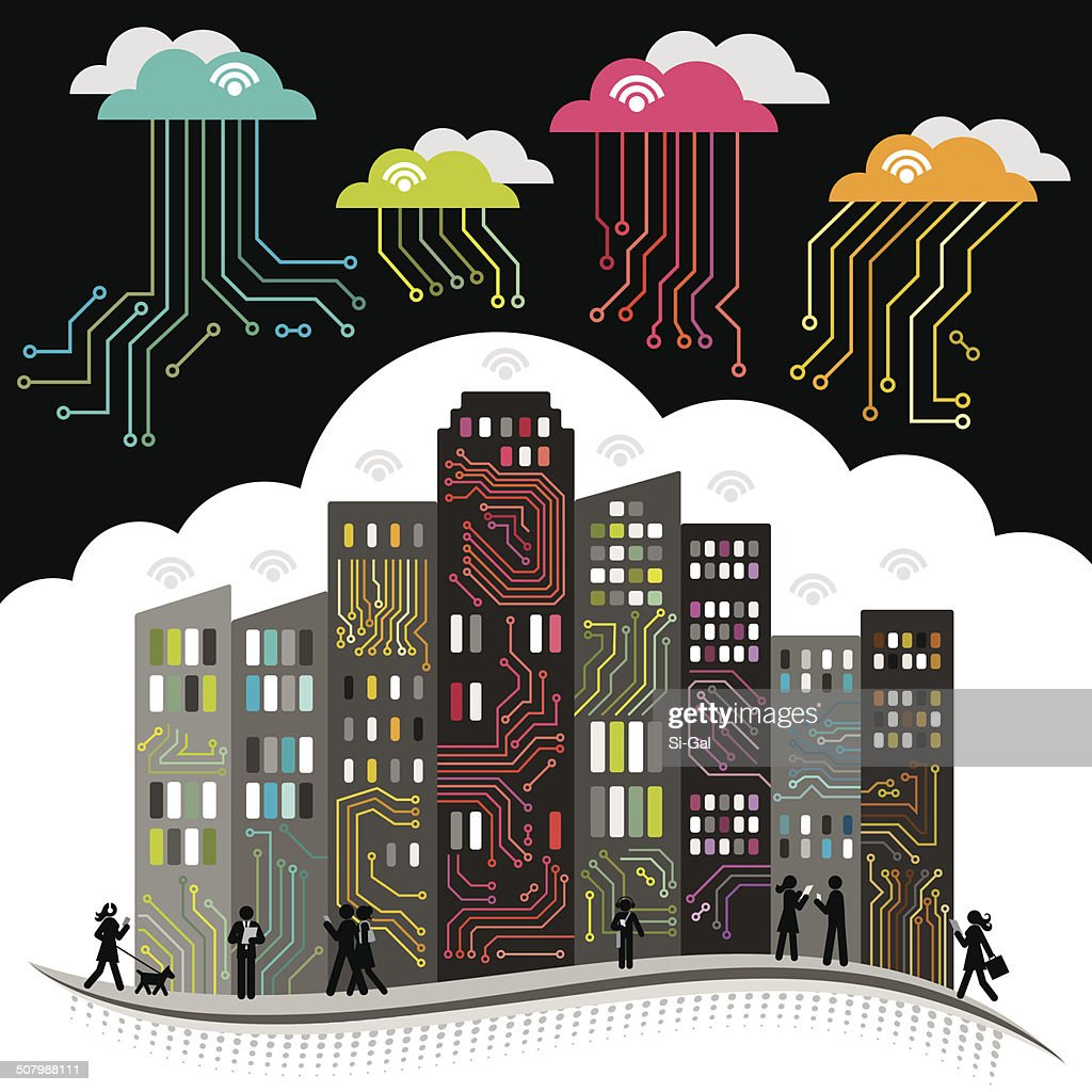 Dynamic Circuit Board City Vector Art Getty Images How To Design Boards