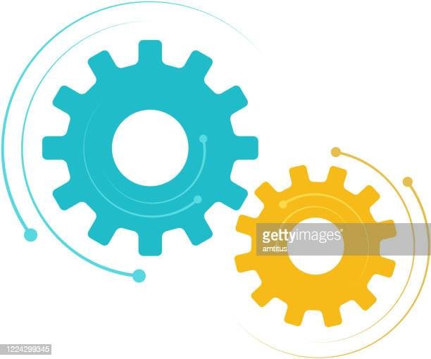 dynamic cogs - equipment stock illustrations