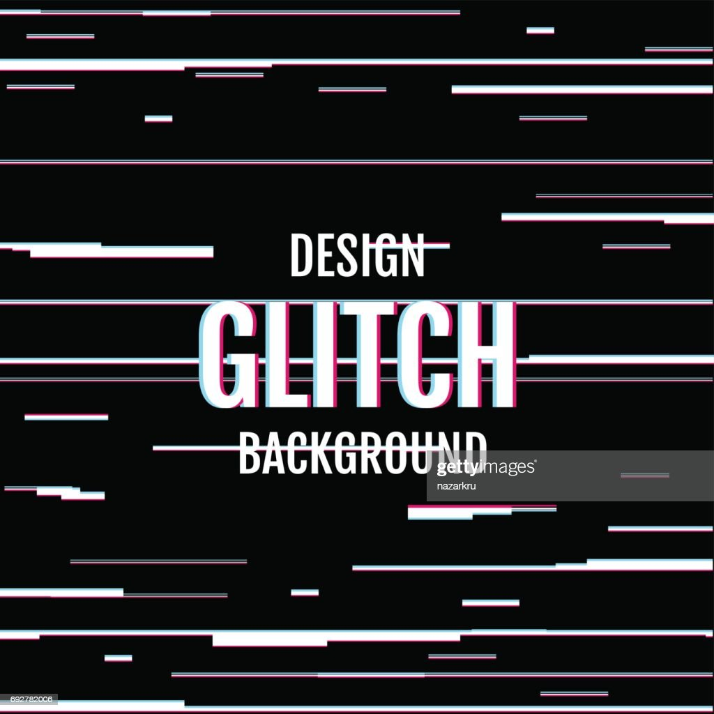 Dynamic design cover with effect glitch.