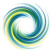Dynamic Flow Illustration. Swirl Background.