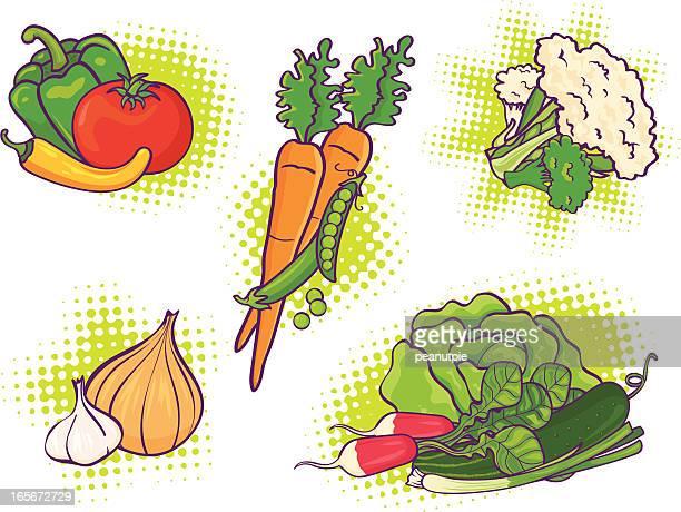 dynamic vegetables - cauliflower stock illustrations, clip art, cartoons, & icons