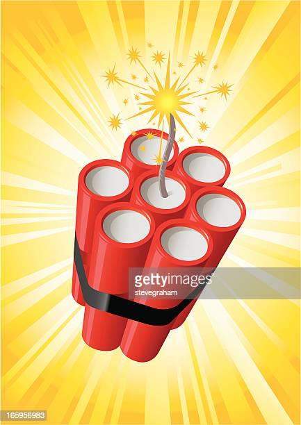 dynamite bundle - explosive stock illustrations