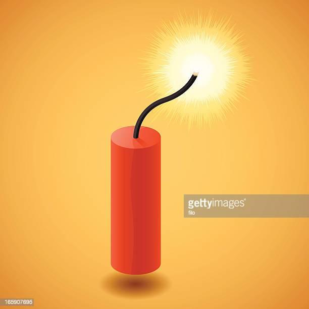 dynamite stick - firework explosive material stock illustrations