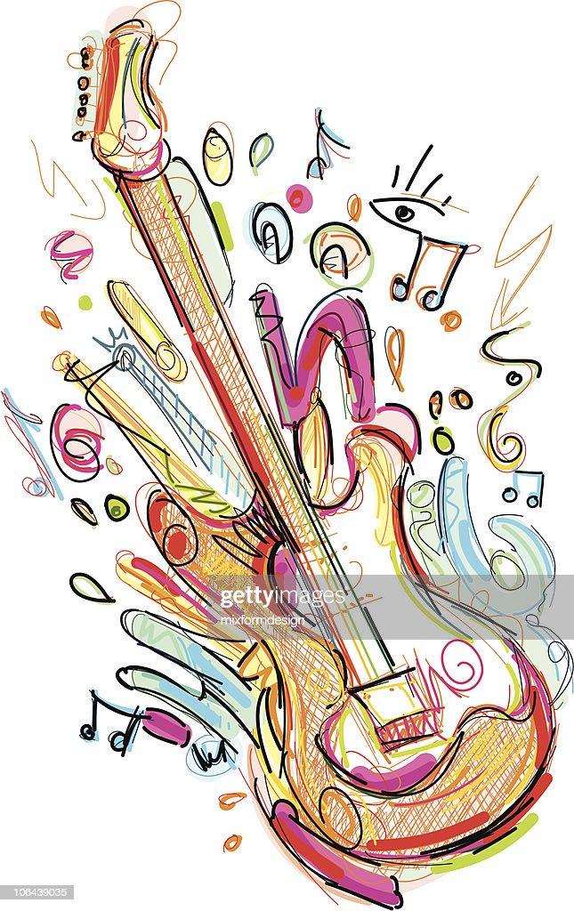 e guitar sketch
