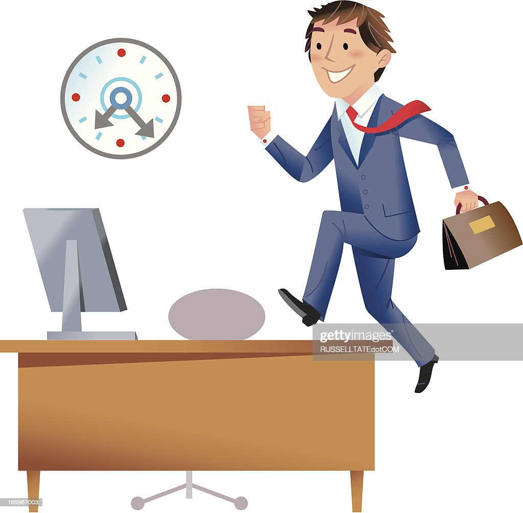 Eager to start work! : stock vector