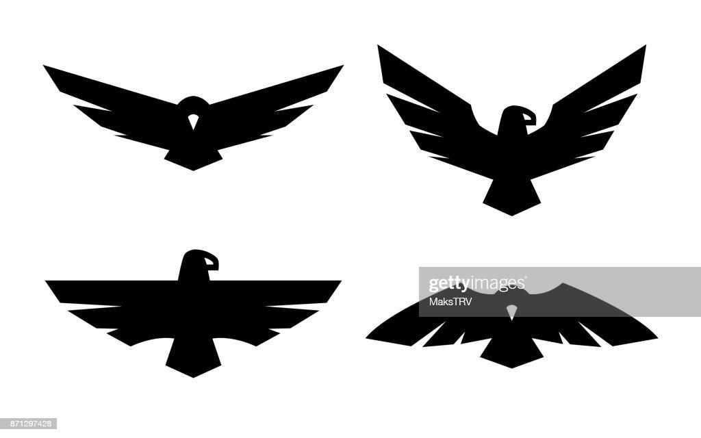 Eagle, a set of monochrome icons.